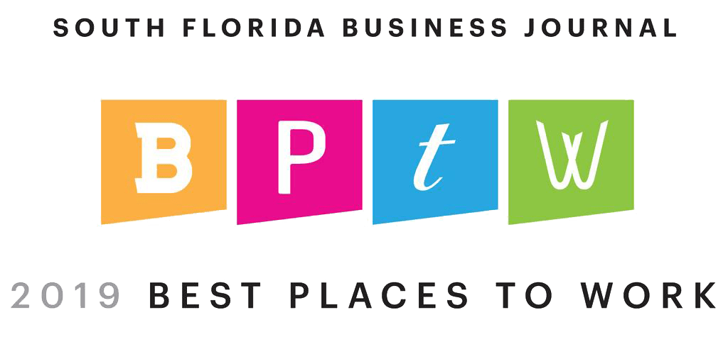 South Florida Business Journal - 2019 Best Places To Work Award.