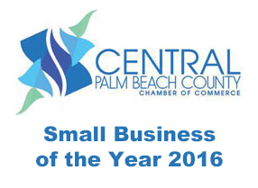 Small Business of the Year 2016 award by the Central Palm Beach County Chamber Of Commerce.