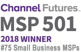 A 2018 top small business MSP's award as published in MSP Mentor August 2018.