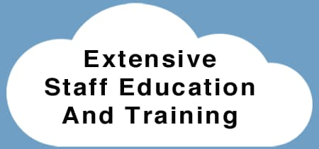 Extensive staff education and training